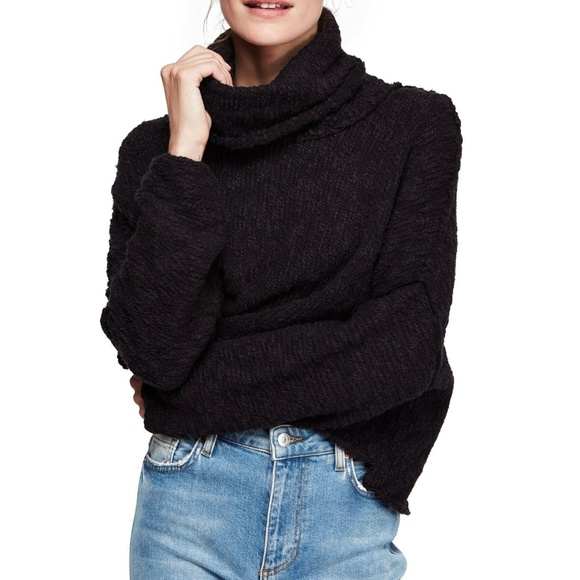 Free People Sweaters - Free People Big Easy Cowl Neck Crop Sweater
